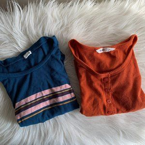 Set of 2 Crop Top T-Shirts